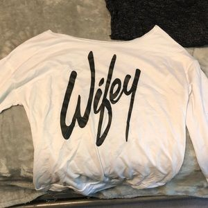 Sweaters - Off the shoulder wifey sweater